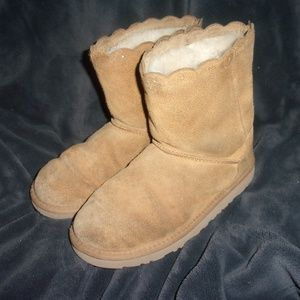Women's size 5 Ugg winter fur Boots tan brown